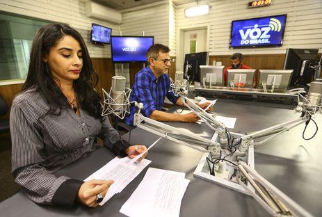 Apresentação do programa Voz do Brasil.